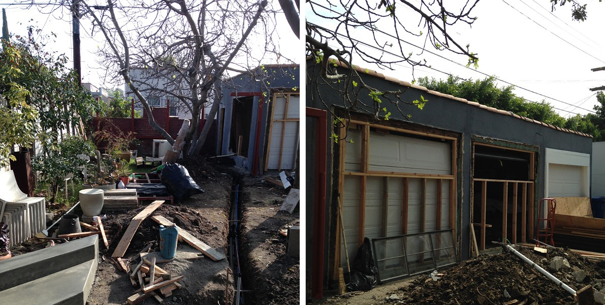 transformation, 3-car garage, shed