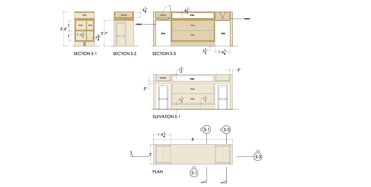 bar height, console, study