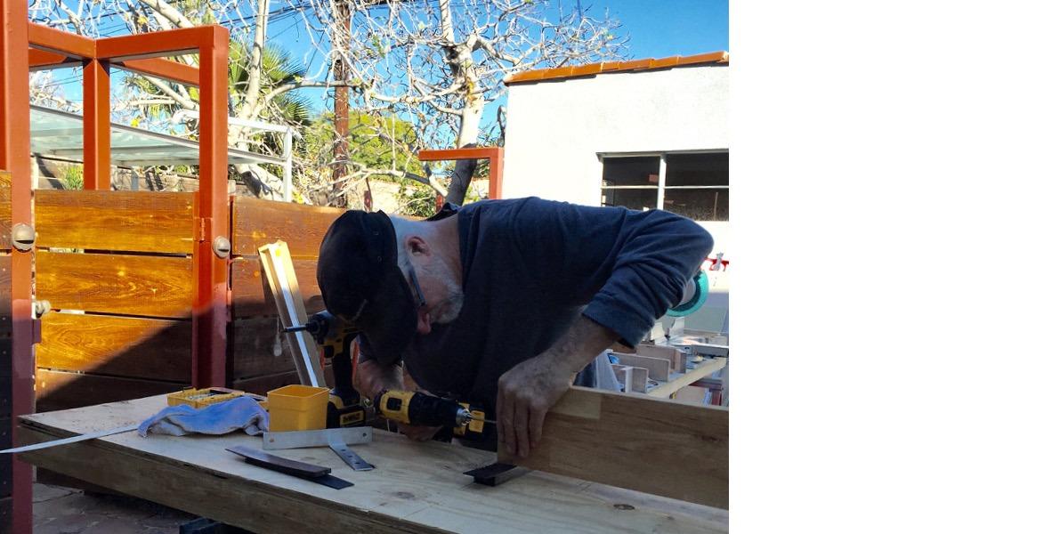 Tommy Hilton. artist, carpenter