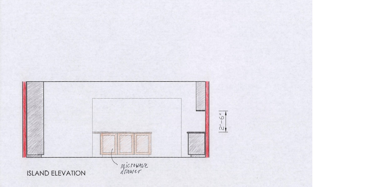 how to streamline, kitchen elevations