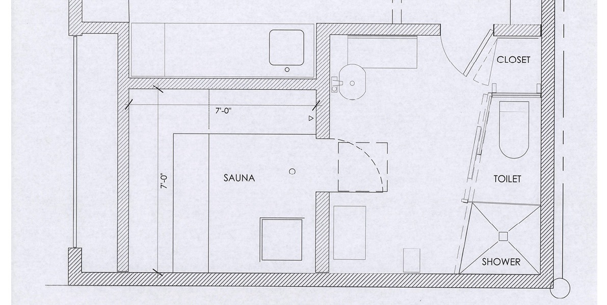sauna, bathroom, storage, relaxation