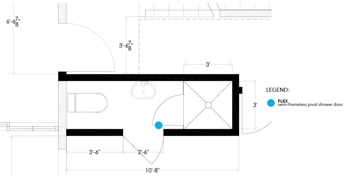 bathroom, efficiency, compact, shower stall, enclosure