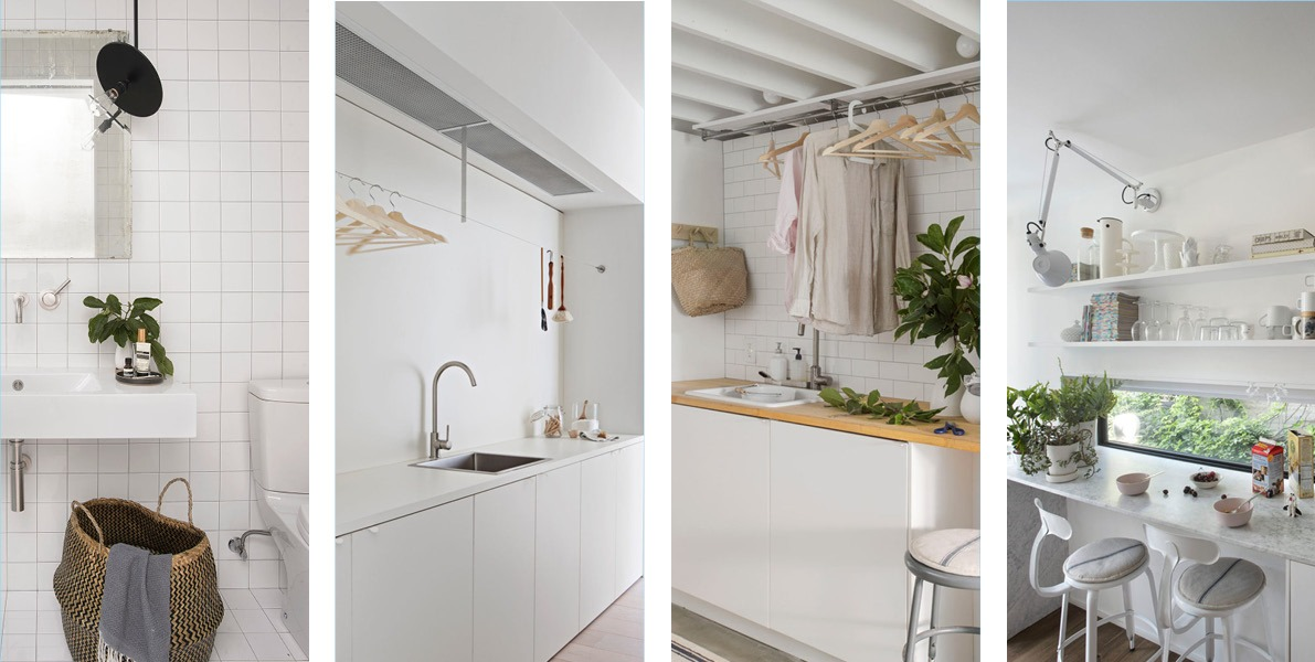 planning, tiny, bathroom, kitchenette