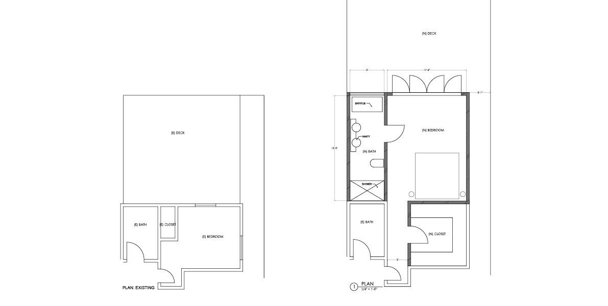 enlarging, small bedroom, adding, bath suite, alla diy ally