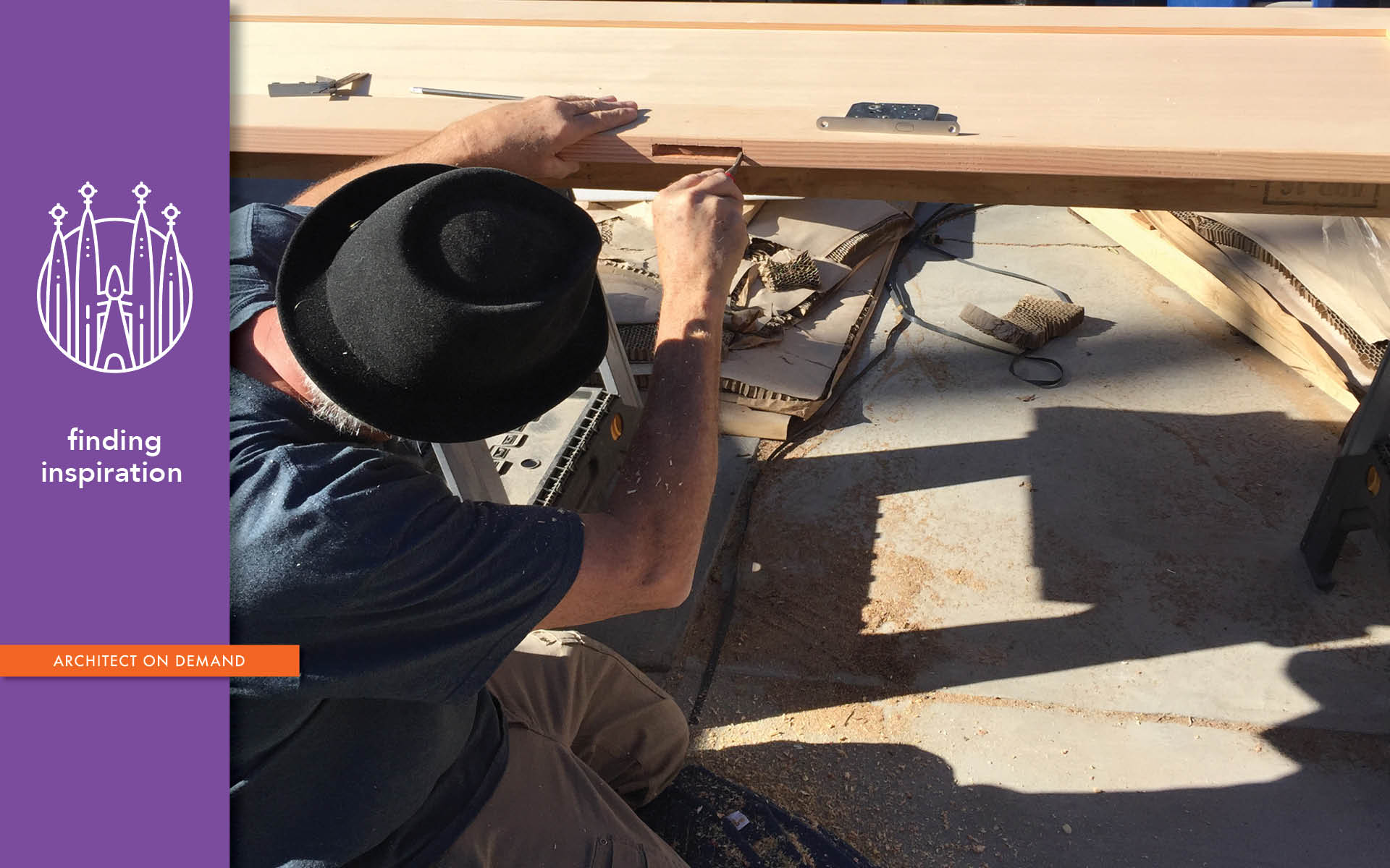 Tommy Hilton, artist, carpenter, architect on demand, advice without strings