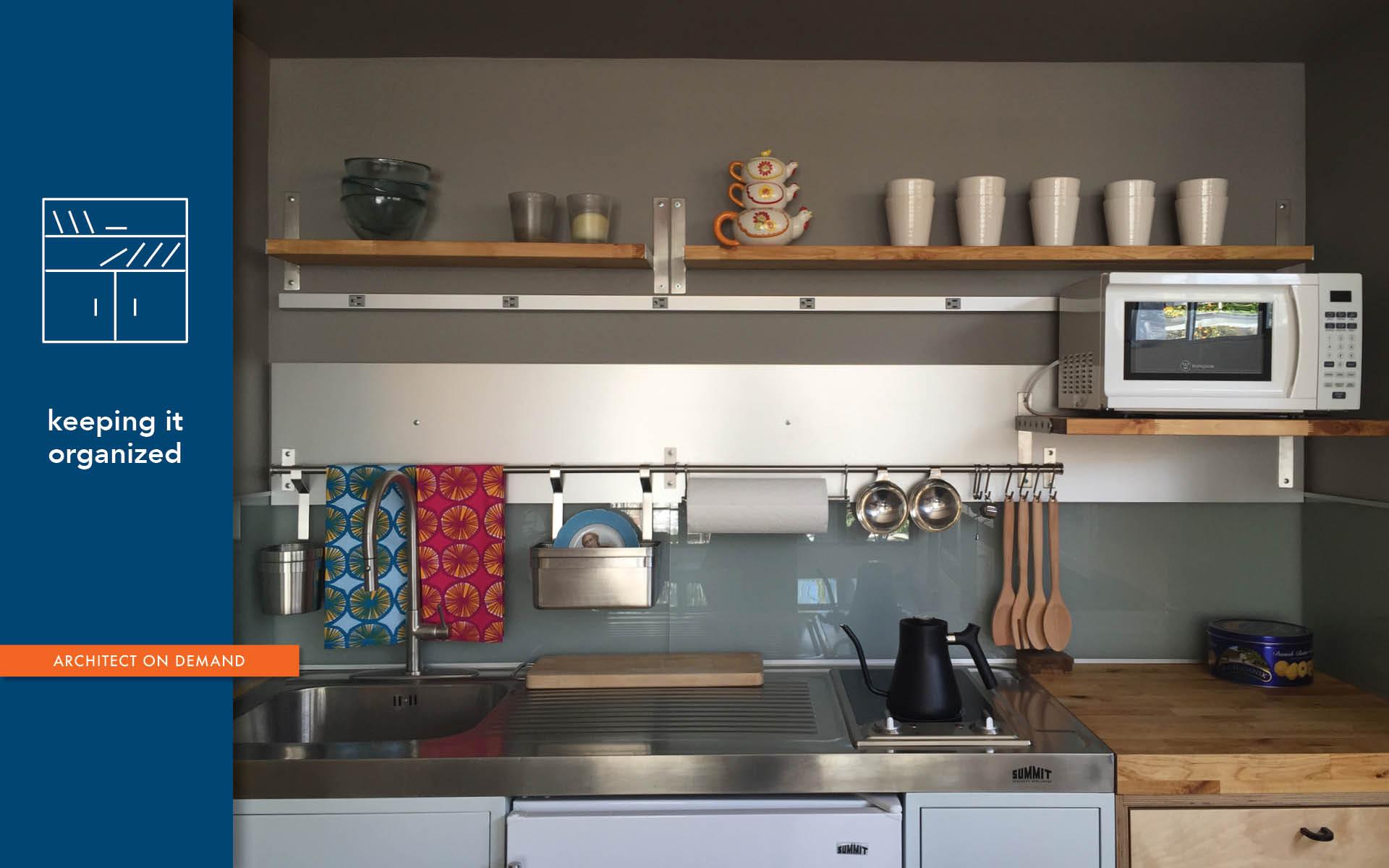 customizing IKEA, wall-mounted organizer, architect on demand, advice without strings
