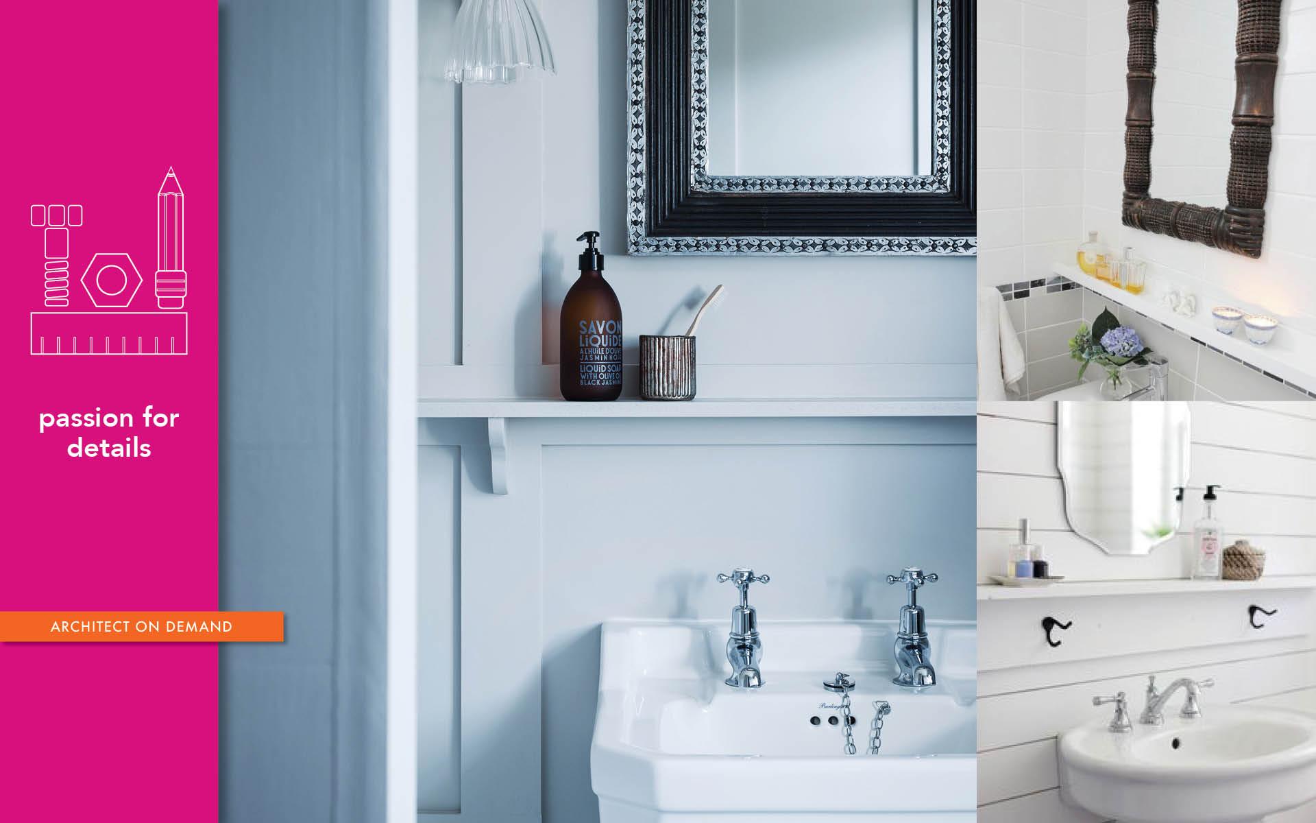 little details, bath, shelf, architect on demand, advice without strings
