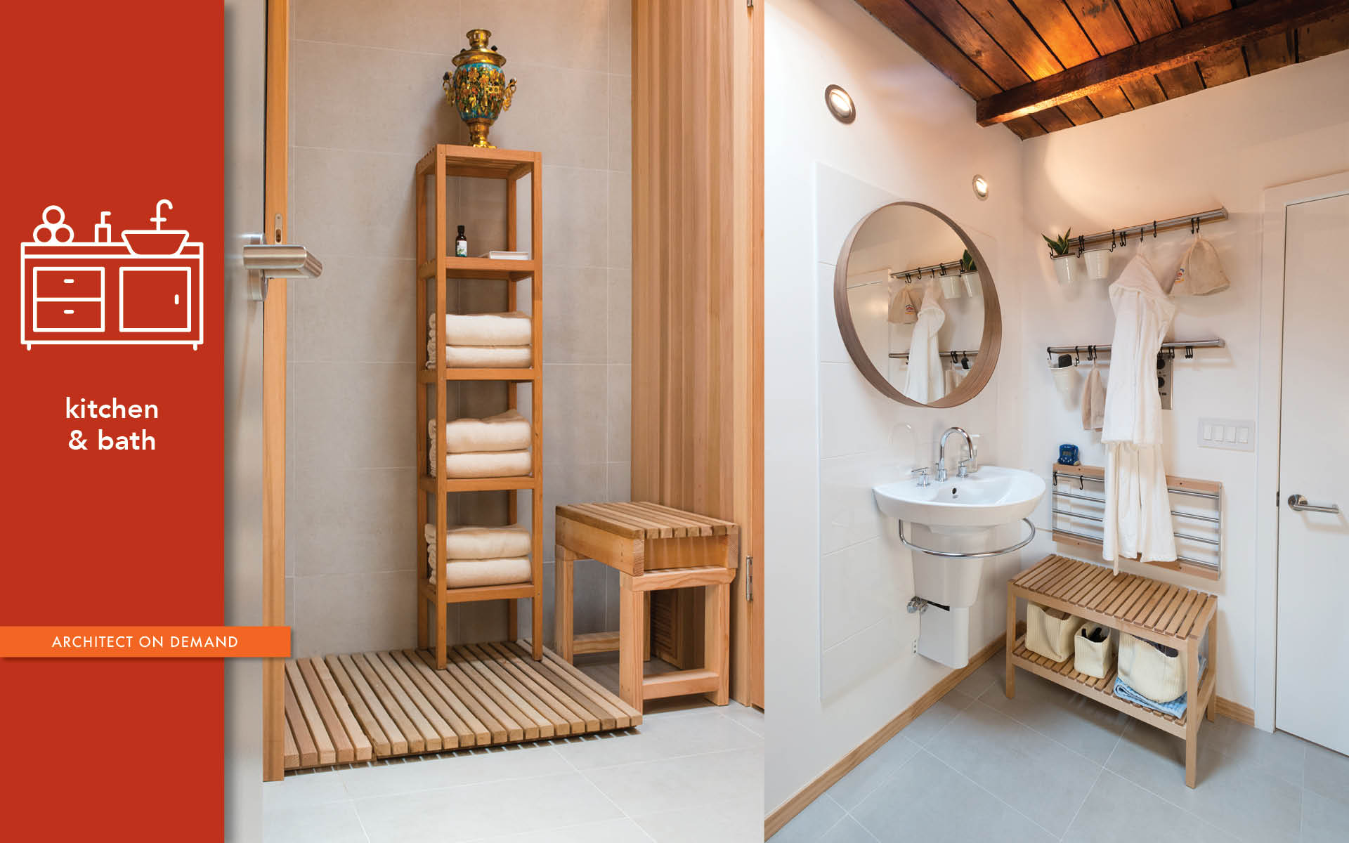 sauna, bathroom, storage, relaxation, architect on demand, advice without strings