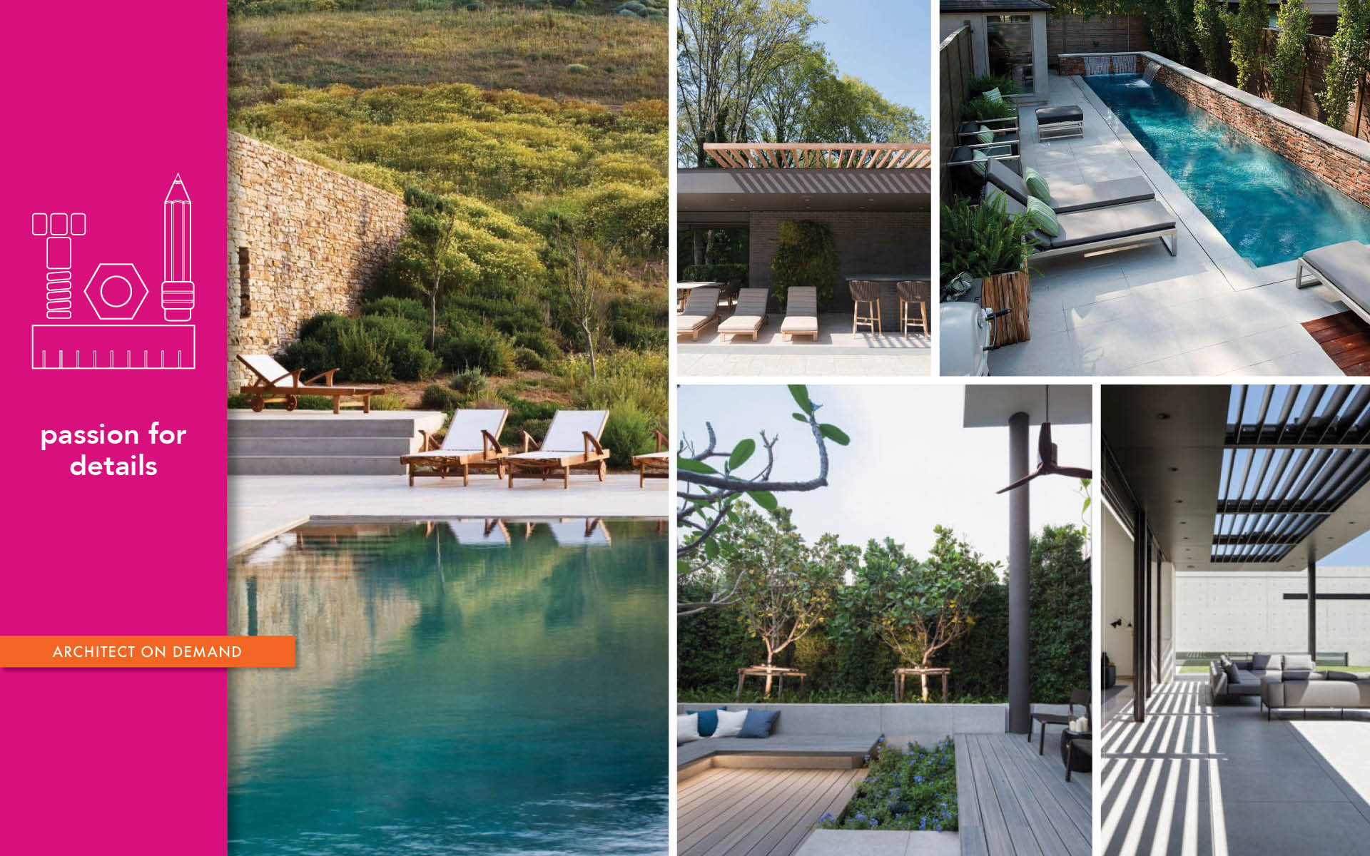 re-imagining, pool deck, terrace, garden, architect-on-demand, advice-without-strings