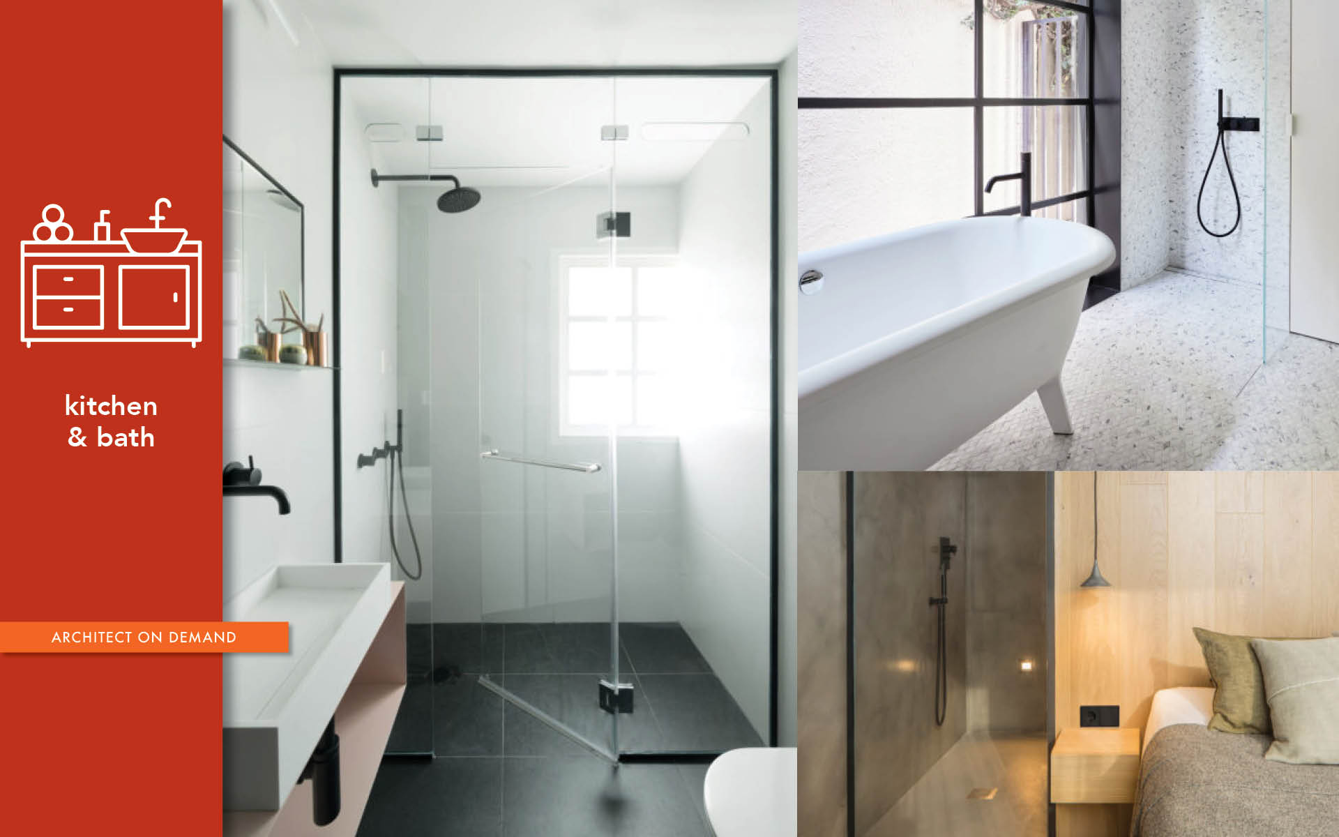 waterproof modular shower system, architect-on-demand, advice-without-strings